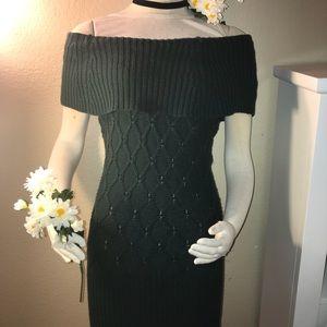 Marciano Forrest Green Sweater Dress